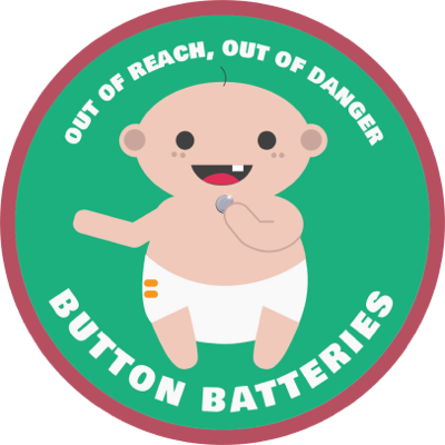 Button Battery Ingestion - How to prevent children from swallowing button batteries